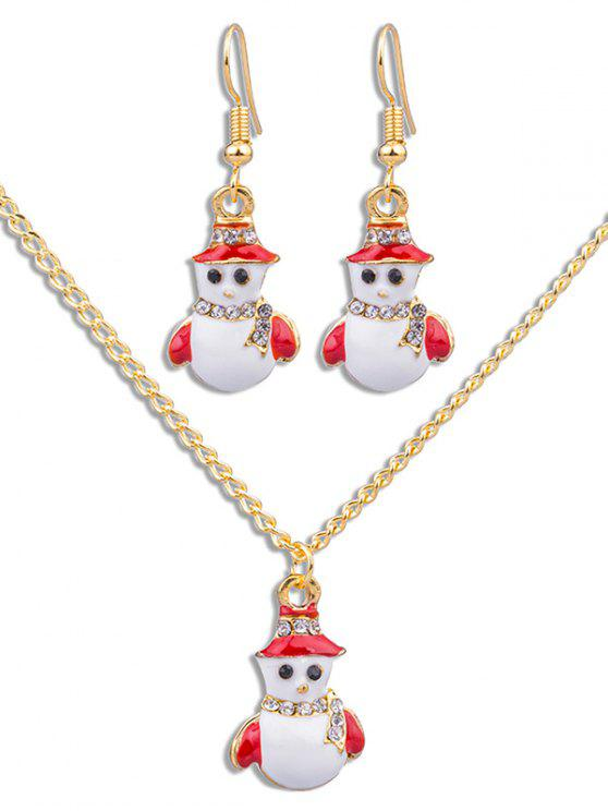 fancy Cute Snowman Decorative Party Jewelry Set - GOLD