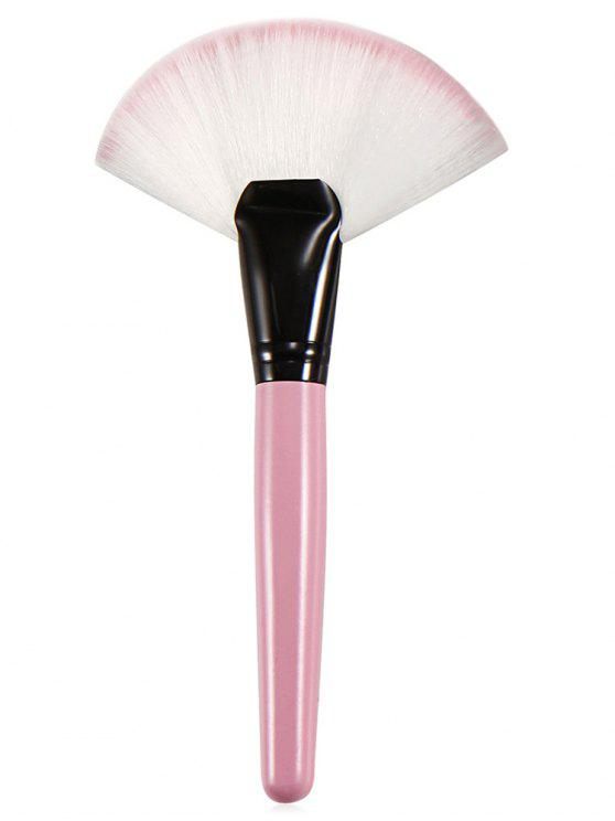 shop Cosmetic Pink Handles Fiber Hair Fan Brush - PINK REGULAR
