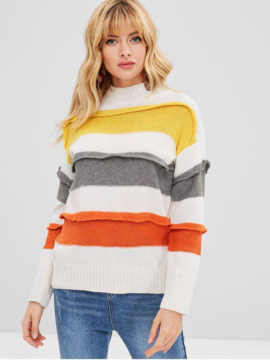 Maglione Colorato Con Collo Alto - Multi Colori Taglia unica