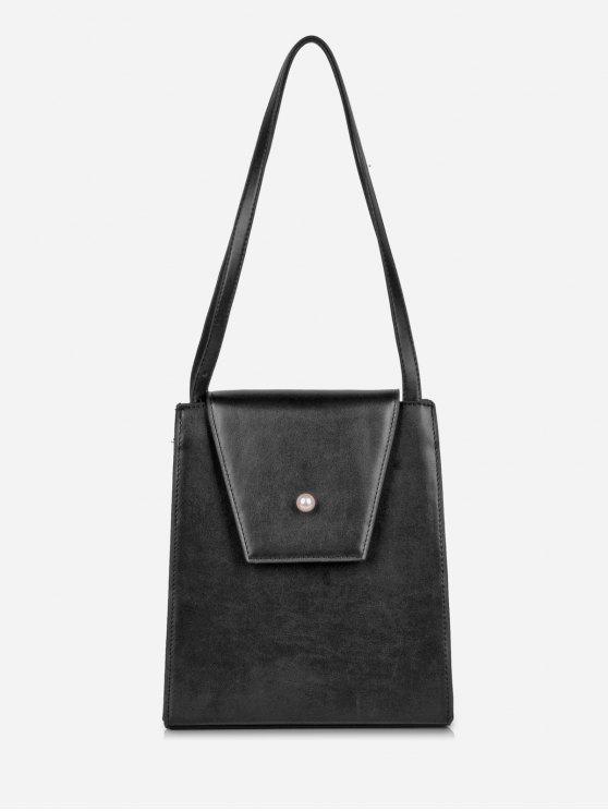 latest Faux Pearl Minimalist Shoulder Bag - BLACK