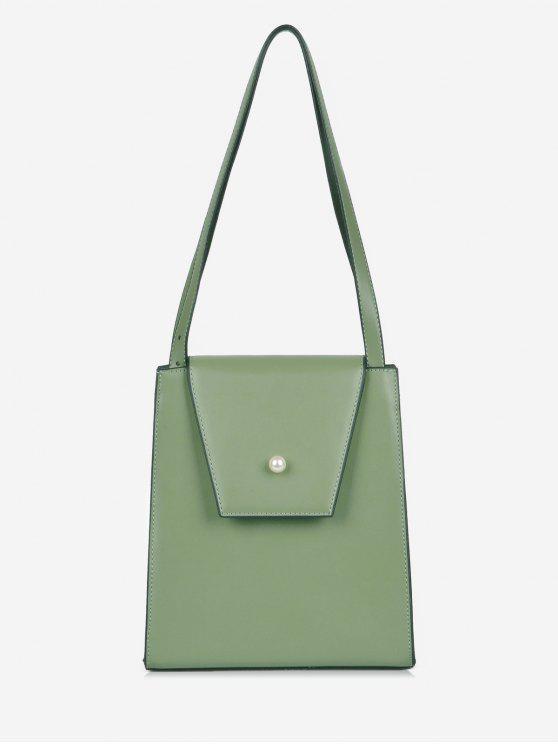 trendy Faux Pearl Minimalist Shoulder Bag - SEA GREEN