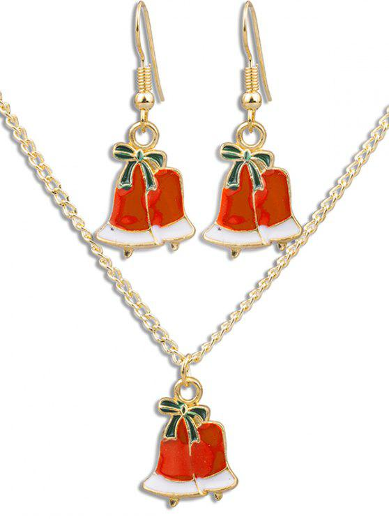 new Christmas Bell Alloy Party Jewelry Set - MULTI