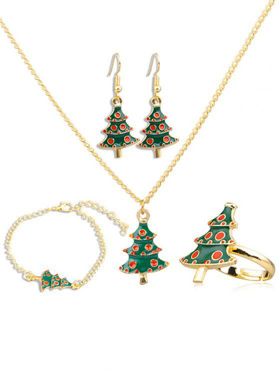 sale Christmas Tree Alloy Jewelry Suit - MULTI