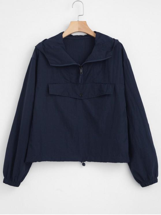 Veste légère à poche sur le devant - Bleu de Minuit M