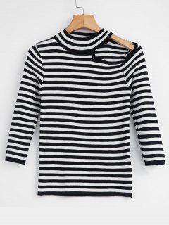 Striped Cutout T-shirt - Multi