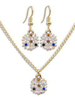 Christmas Snowflake Party Jewelry Set - Gold