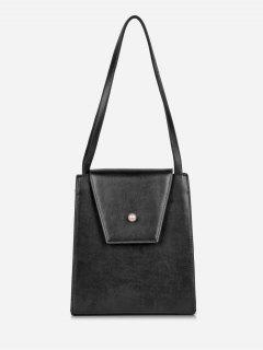 Faux Pearl Minimalist Shoulder Bag - Black