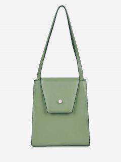 Faux Pearl Minimalist Shoulder Bag - Sea Green