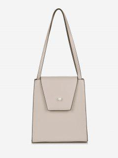 Faux Pearl Minimalist Shoulder Bag - Light Pink