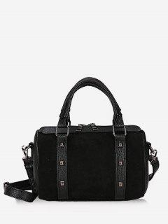 Multi Functional Rivet Tote Bag - Black