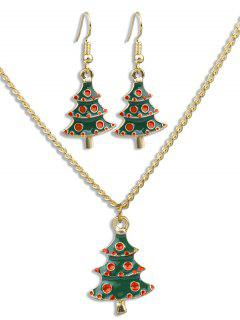 Christmas Tree Alloy Party Jewelry Suit - Multi