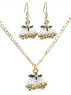 Christmas Bell Rhinestone Alloy Jewelry Suit - Gold