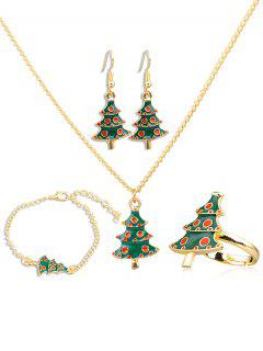 Christmas Tree Alloy Jewelry Suit - Multi