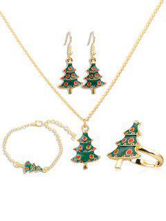 Christmas Tree Alloy Jewelry Suit - Multi