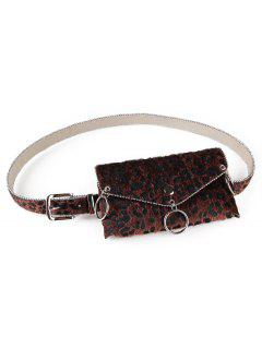 Punk Leopard Print Fanny Pack Belt Bag - Coffee