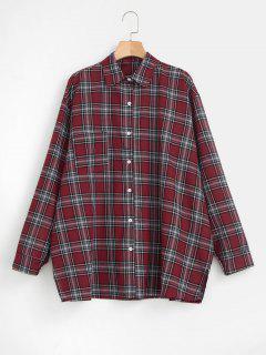 Oversized Checked Shirt - Multi