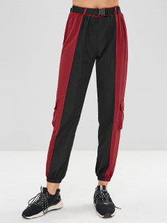 Two Tone Pockets Jogger Pants - Multi-b M