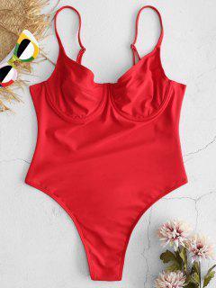 ZAFUL High Cut Thong Traje De Baño De Una Pieza - Rojo Lava L