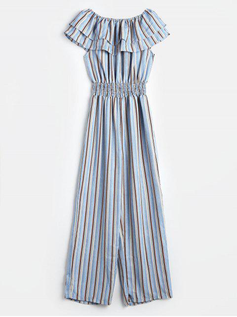Combinaison Rayée Superposée à Epaule Dénudée - Multi Taille Unique Mobile