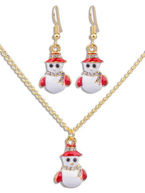 fancy Cute Snowman Decorative Party Jewelry Set - GOLD  Mobile