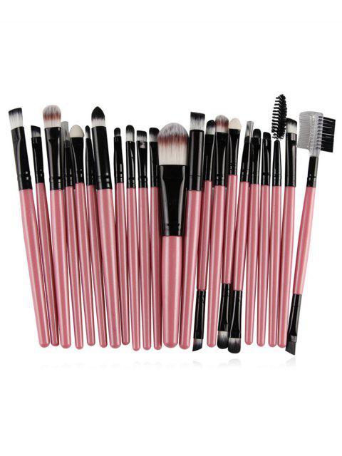 Ensemble de Brosse Cosmétique de Maquillage en Fibre Ultra-Douce 22 Pièces - Rose Kaki  Mobile