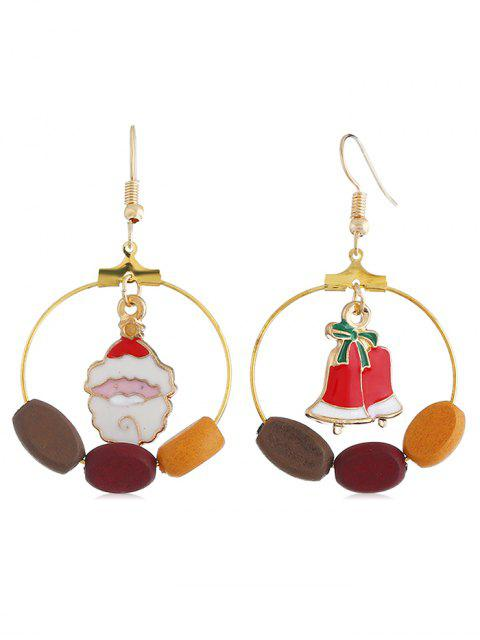unique Cute Santa Claus Bell Round Hook Earrings - MULTI  Mobile