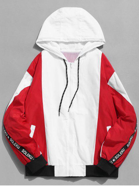 Veste à capuche imprimée Zip Fly Cat - Rouge 2XL Mobile