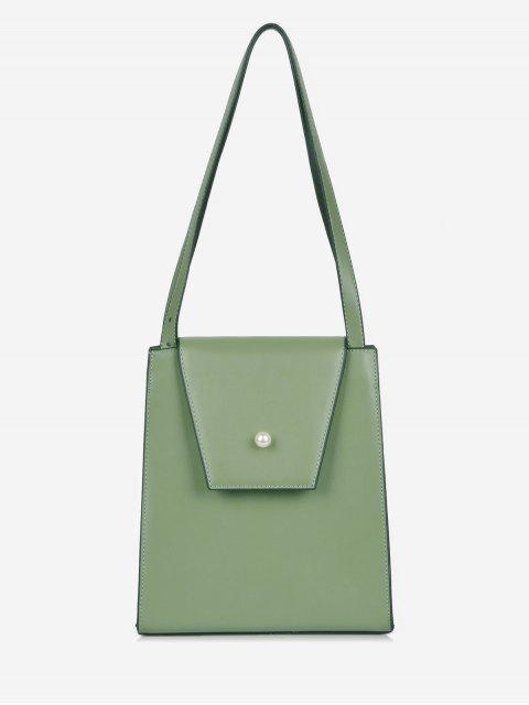 trendy Faux Pearl Minimalist Shoulder Bag - SEA GREEN  Mobile
