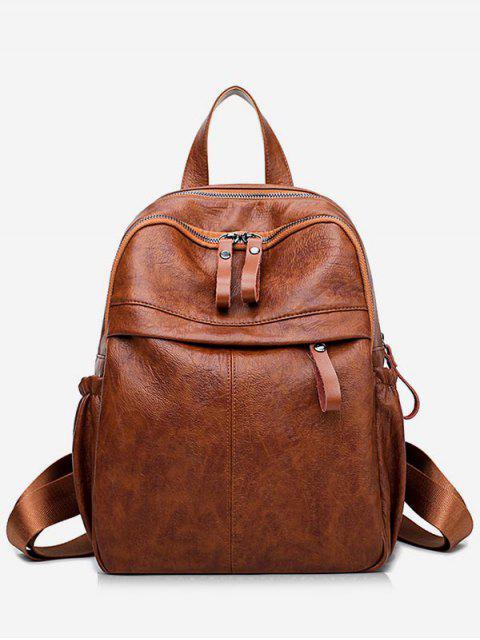 Школьный Рюкзак PU кожа С большой емкостью - Коричневый  Mobile