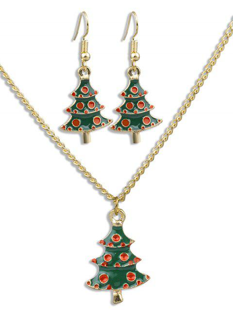online Christmas Tree Alloy Party Jewelry Suit - MULTI  Mobile