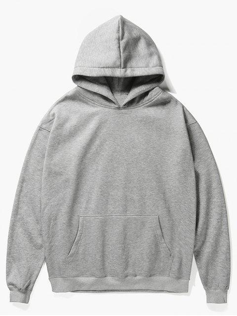 shop Santa Claus Kangaroo Pocket Pullover Hoodie - GRAY CLOUD L Mobile