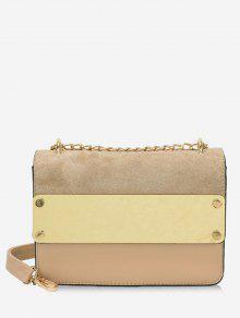حقيبة كروس مزينة بالألوان - ضوء الكاكي