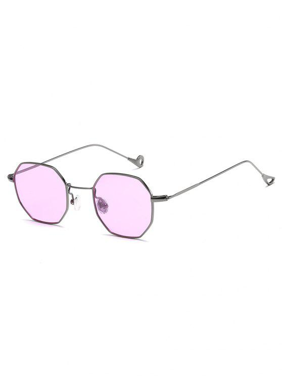 hot Irregular Metal Frame Sun Shades Sunglasses - MAUVE
