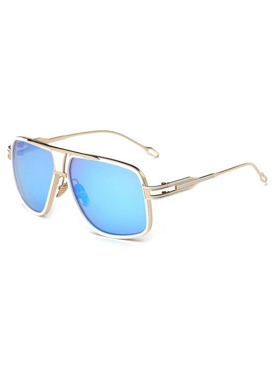outfits Metal Full Frame Crossbar Sunglasses - DAY SKY BLUE