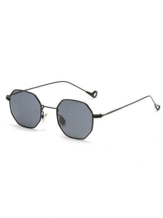 shops Irregular Metal Frame Sun Shades Sunglasses - CARBON GRAY