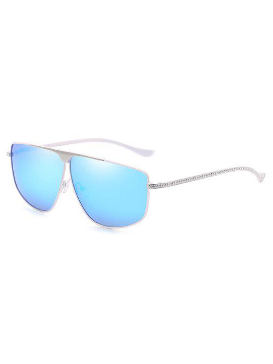 sale Unique Metal Frame Pilot Sunglasses - DENIM BLUE