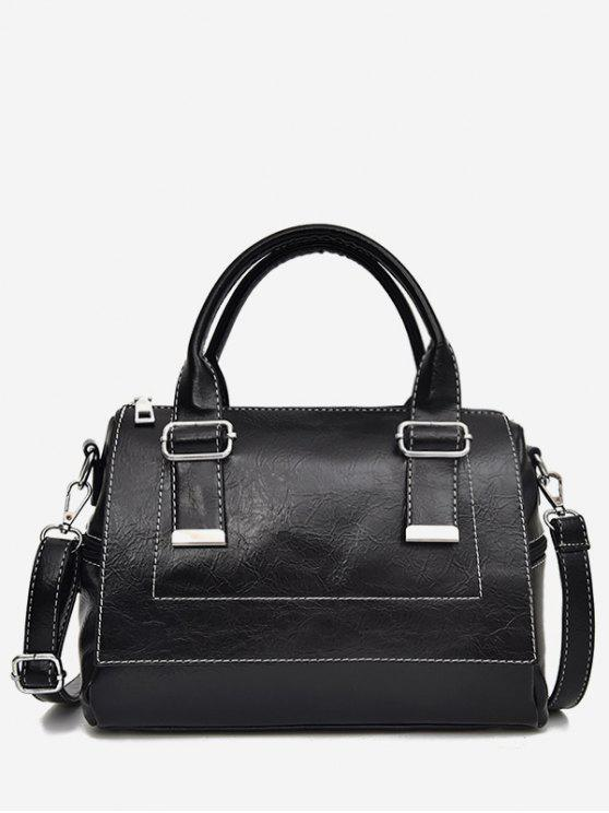 womens Color Block Going Out Handbag - BLACK