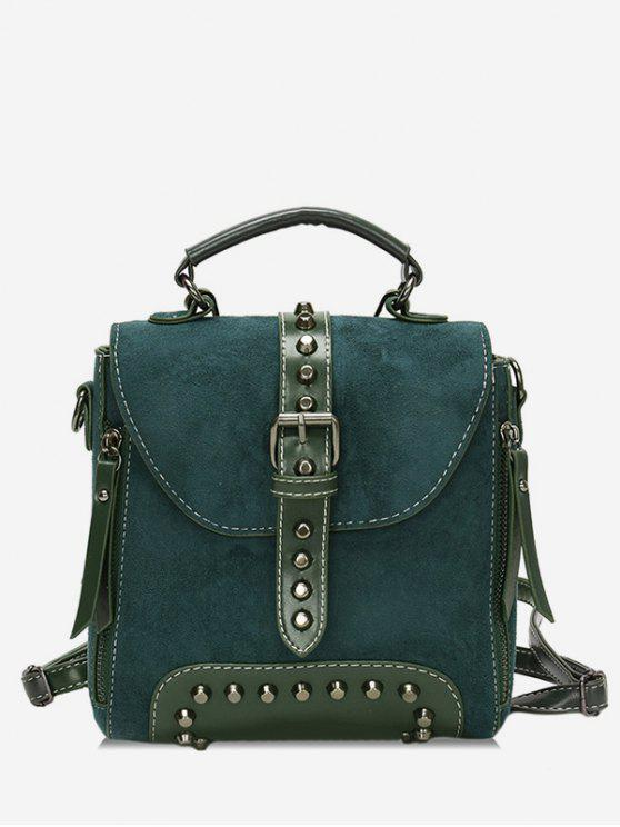 new Mini Buckle Rivet School Backpack - SEA GREEN