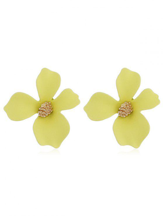 outfits Floral Shape Design Stud Earrings - YELLOW