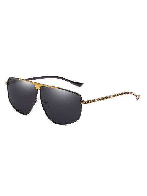 Óculos de sol originais do quadro do metal - Preto
