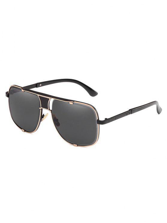 Gafas de sol con montura cuadrada antifatiga de metal - Negro