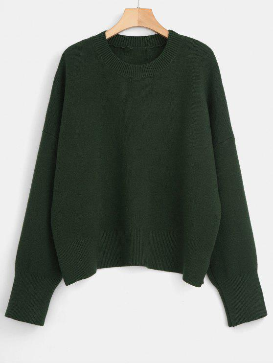 sale Boxy Oversized Sweater - DEEP GREEN ONE SIZE