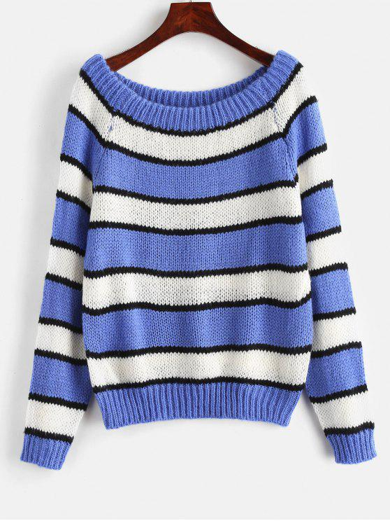 unique Striped Chunky Sweater - MULTI ONE SIZE