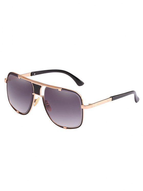 Óculos de sol anti fadiga Metal Square Frame - Cinza de Carbono