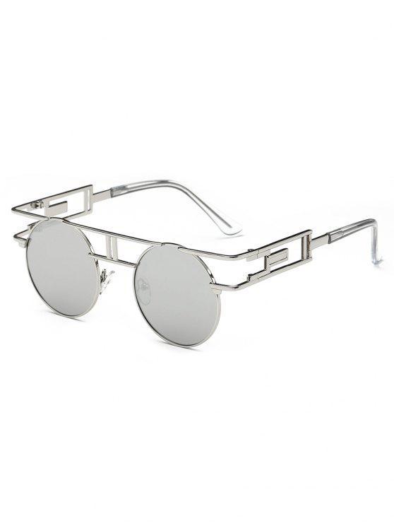 Anti Fadiga Irregular Metal Frame Novelty Sunglasses - Platina