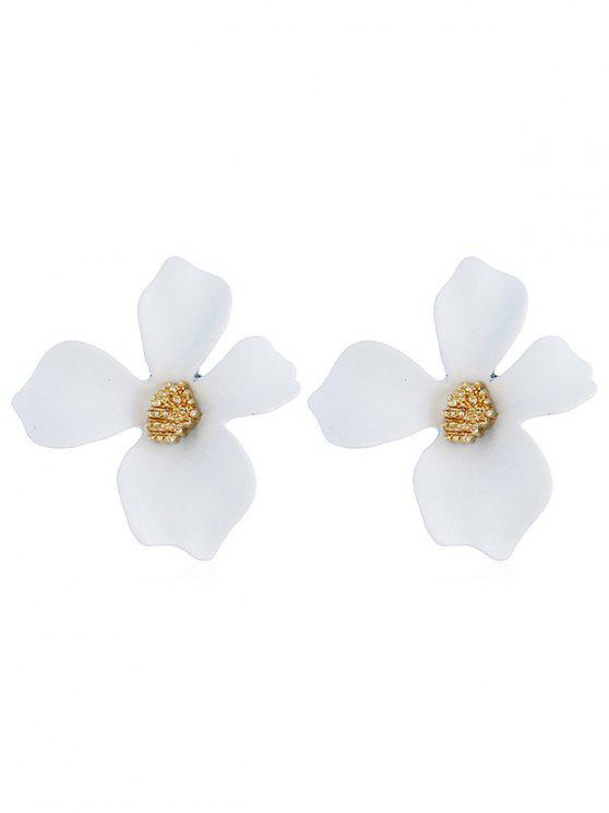 Pendientes de diseño floral forma diseño - Blanco