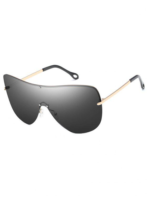 trendy Anti Fatigue Rivets Shield Sunglasses - CHAMPAGNE GOLD