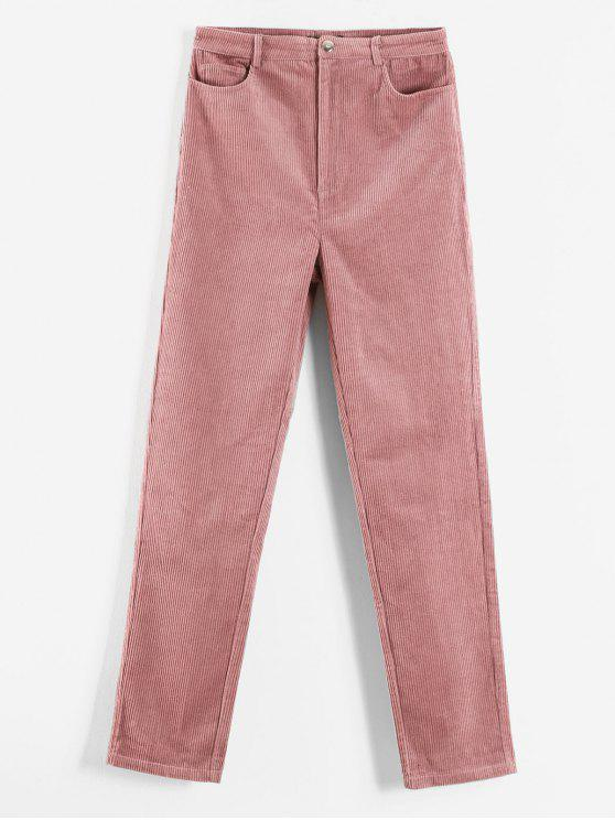 trendy ZAFUL Corduroy Pocket Pants - LIGHT PINK L