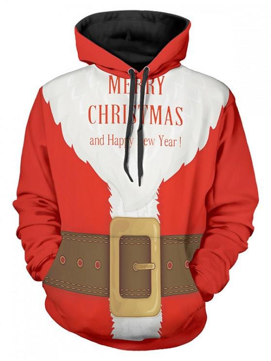 shop Santa Suit Christmas Pullover Hoodie - MULTI M