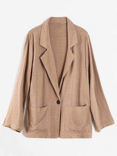 Patch Pocket One Button Blazer - Tan